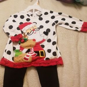 2 piece Santa Clause Christmas Outfit